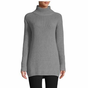 NWT Lord & Taylor Cotton-Blend Ribbed Turtleneck